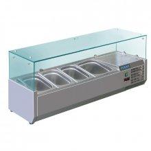 Vitrina Expositora en Acero Inoxidable para 3 cubetas 1/3 y 1 cubeta 1/2 Gastronorm GD875 POLAR