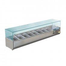 Vitrina Refrigerada de Ingredientes con cubierta de cristal para 8 cubetas GN de 1/3 GD877 POLAR