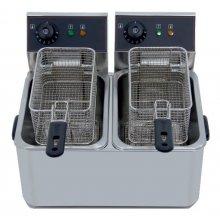 Freidora Eléctrica Doble 5 + 5 Litros SIN Grifo de vaciado IEF-4L-2-EGO