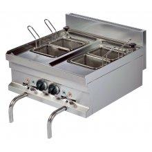 Cocedor de pasta eléctrico sobremesa 14+14 litros 3+3 kw 600x600x265h mm EMH606 ARISCO
