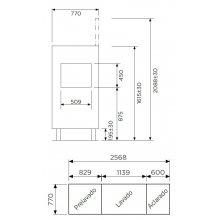 Túnel de Lavado Cesta 50x50 función Lavado-Aclarado de 1750x770x1615 (AxFxH) mm