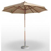 Parasol con mástil de madera Orientable DELUXE3X3-MADERA