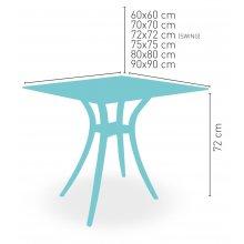 Mesa con pies de resina regulables modelo MARTE