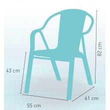 Sillón armazón aluminio doble tubo 25x1,5 asiento y respaldo bambú medula bicolor HOUSTON BAMBÚ