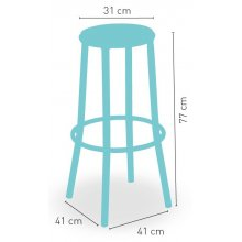 Taburete aluminio con asiento personalizable MEDITERRÁNEO