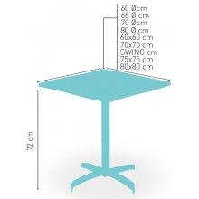 Mesa pie fundición aluminio brillo 2 pies regulables PISA-4 ABATIBLE