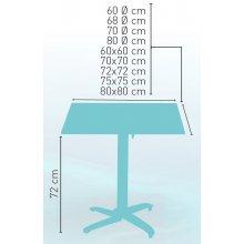 Mesa pie aluminio mate LORENA-4 GRIS ABATIBLE