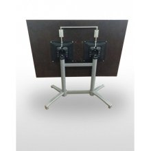 Mesa pie aluminio mate LORENA-R GR ABATIBLE