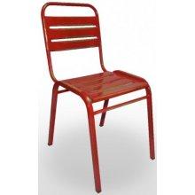 Silla de acero con asiento y respaldo en chapa acanalada VERACRUZ