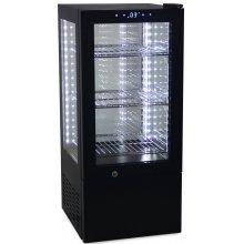 Vitrina Expositora Refrigerada 4 caras cristal de 65 litros G-65-OUT-100 (OUTLET EXCEDENTE STOCK)