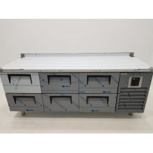 Mesa Refrigerada con cajones fondo 700 1500x700x850 mm CTS330CR-2D-4