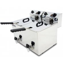 Freidora Eléctrica CON grifo de vaciado de 10+10Litros EVO1010G