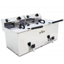 Freidora Eléctrica Doble CON grifo de vaciado de 12+12 Litros EVO1212G