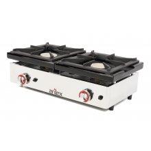 Cocina a gas de 2 fuegos de 6 + 6 Kw con medidas 810x457x240h mm 80CG(OUTLET)