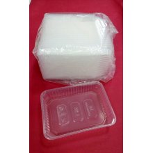 Paquete de 50 uds de Envases para Raciones de 500cc Aptos para Microondas hasta 120º EM500PP HOSTELCASH (1 paquete)