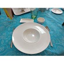 Plato Degustación 360cc de 30cm de Porcelana 01S0289 EURODRA (1 ud)