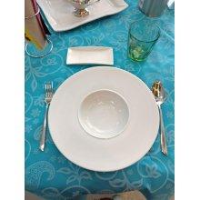 Caja de 6 Platos Degustación de 50cc de 20cm de Porcelana 01S0248 EURODRA (caja 6 uds)