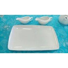 Fuente rectangular Porcelana 32x21cm PACD1008 EFG (Caja 6 uds)