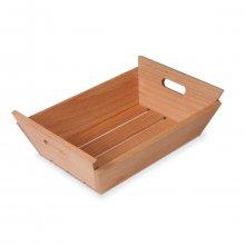 Mini Caja de Madera Cuadrada para Pan de 17x17x7 cms 2005 SUPREMINOX (1 ud)