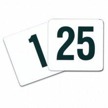 Juego de números de sobremesa del 1 al 25 Plástico Blanco 10,2cm 179.67 GDP (1 set)