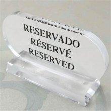 Placa de Reservado 13,5x7,5cm 210.05 GDP (1 ud)
