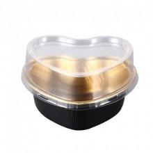 Pack 100 uds Recipientes Pasteleria Aluminio Oro/Negro 100ml 8.8x8.8x3cm 214.62 GDP (OUTLET LIQUIDACIÓN) (1 pack)