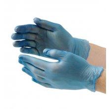 Caja 100 uds Guantes de vinilo Vogue azules sin empolvar talla M, CF-403-M Nisbet (1 caja)