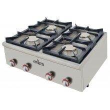 Cocina a gas serie BASIC fondo 75 cm de 4 fuegos con potencia 4x6 Kw 80CG75BASIC