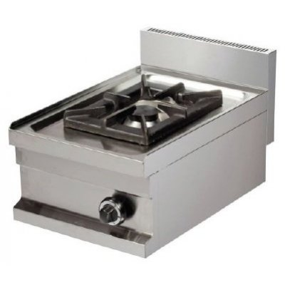 Cocina a gas sobremesa 1 fuego 6kw 400x600x265h mm GS604 ARISCO