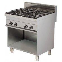 Cocina a gas 4 fuegos 4x6kw 800x700x900h mm GR721 ARISCO