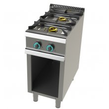Cocina a gas con mueble de 2 fuegos 6+4,5 Kw SerIe 700 JUNEX con medidas 400x730x900h mm FO7N200