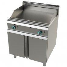 Frytops a Gas Acero laminado placa lisa con mueble Serie 900 JUNEX de 800x900x900h mm FT9C0LL