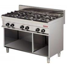 Cocina a gas 6 fuegos 6x6kw 1200x700x900h mm GR731 ARISCO