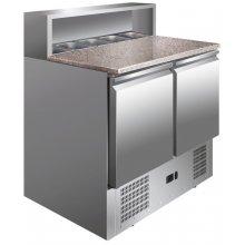 Mesa GN1/1 2 Puertas Preparación Ensaladas con Encimera de Granito de 900 x700 x1010h mm PS900