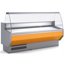 Vitrina Refrigerada DOCRILUC Cristal Curvo Fondo 800 de 2025 x800 x1230h mm VED-8-20-C