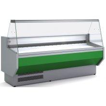 Vitrina Refrigerada DOCRILUC SIN RESERVA Cristal Recto Fondo 940 de 2525 x800 x1230h mm VEDS-9-25-R