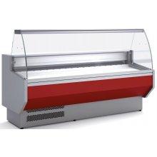 Vitrina Refrigerada DOCRILUC CON RESERVA Cristal Curvo Fondo 940 de 1525 x800 x1230h mm VED-9-15-C