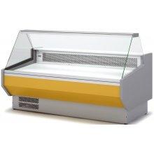 Vitrina Refrigerada DOCRILUC CON RESERVA Cristal Recto Fondo 1100 de 2525x1100x1231h mm VED-10-25-R