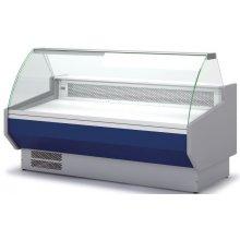 Vitrina Refrigerada DOCRILUC CON RESERVA Cristal Curvo Fondo 1100 de 2525x1100x1231h mm VED-10-25-C
