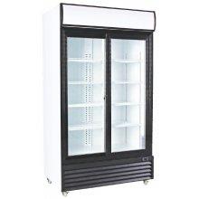 Armario Expositor Refrigerado 1000 litros 2 Puertas Correderas de Vidrio de 1130 x730 x2030h mm CSD1000S