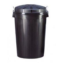 Cubo de basura Industrial de 95 Litros Color Negro 23187 DENOX (1 ud)