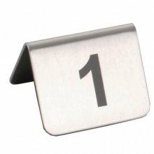 Caballetes números sobremesa 1 al 25 Inox 5,2x4,2cm 133.50 GDP (1 set)