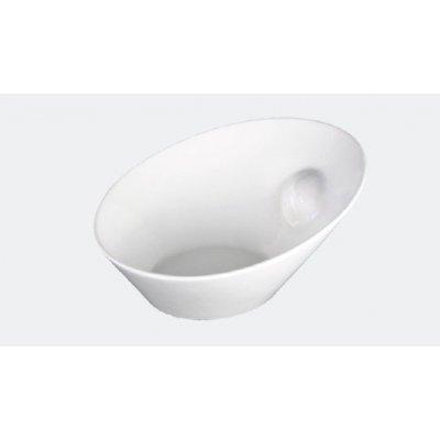 Bol inclinado Buffet de 27'4x24'9x13'5cm Porcelana Blanca 01S1636 EURODRA (1ud)